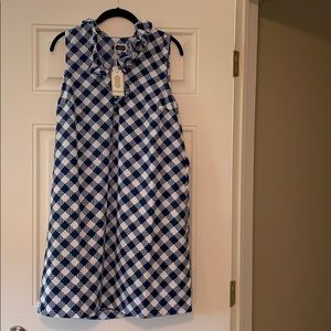 Mudpie Dress, Large, navy and white, NWT